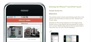 Schmap for London on iPhone